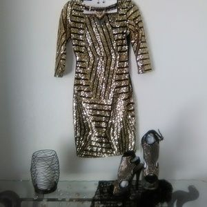 Glitz and Glamorous Sequence Cocktail Dress